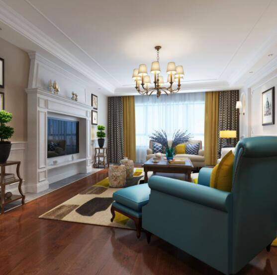 美式装修选什么窗帘 美式装修窗帘颜色搭配 美式装修窗帘效果案例
