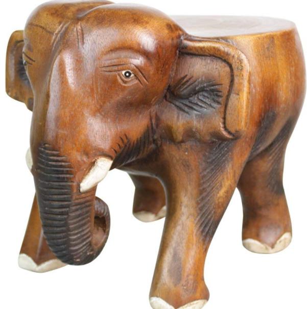 泰国大象木雕