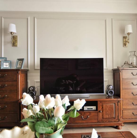 电视背景墙美式装修 电视背景墙简约装修 电视背景墙装修案例
