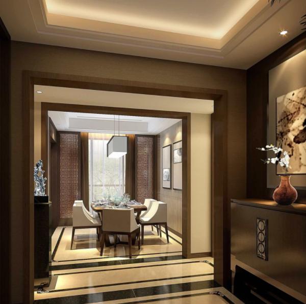 新中式装修客厅吊顶风格