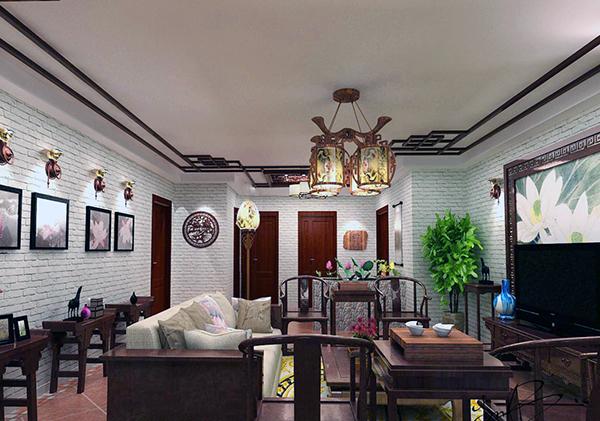 新中式客厅不吊顶装修设计 新中式客厅简约装修不吊顶