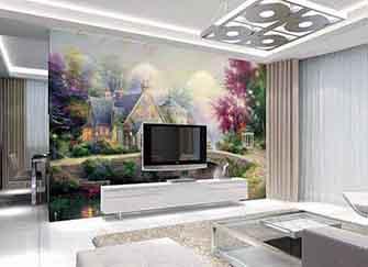 客厅电视背景墙材料