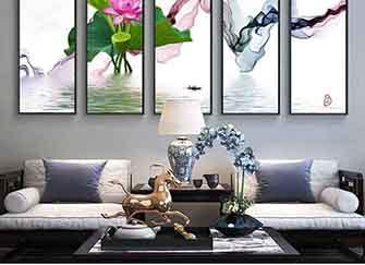中式客厅沙发后适合挂什么画 中式客厅沙发背景装饰画