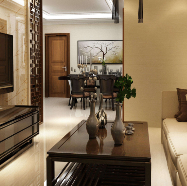 新中式客厅装修地砖