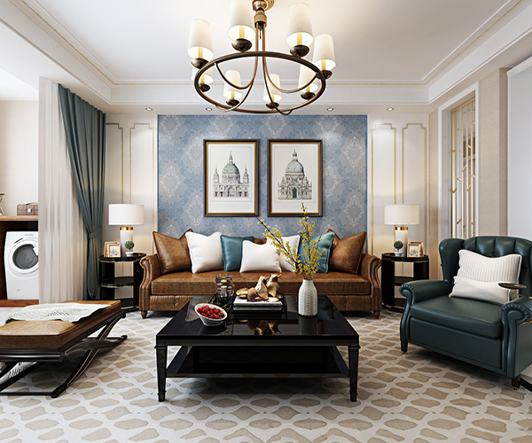 美式客厅装修墙面颜色