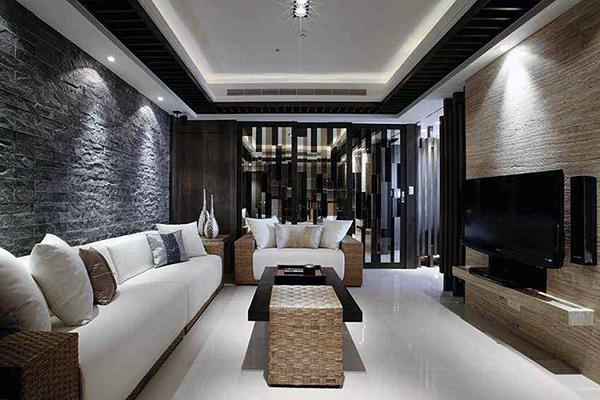 客厅深颜色装修