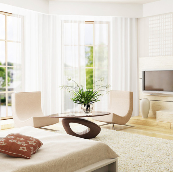 白色装修配家具