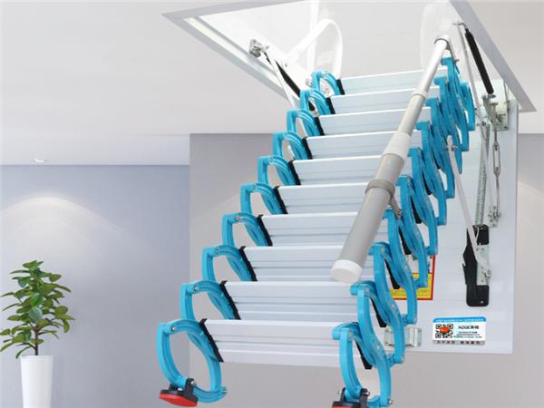 家用伸縮樓梯什么材質最好 家用伸縮樓梯多少錢 家用伸縮樓梯帶扶手