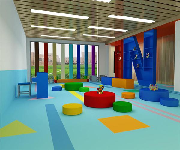 幼儿园地板铺什么材质 幼儿园地板用什么颜色比较好 幼儿园室内地板图案大全