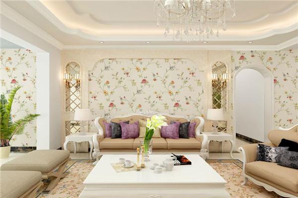 客厅墙布颜色