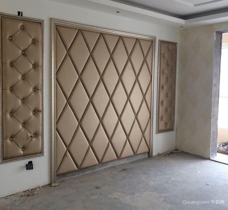 卧室背景墙,电视背景墙的施工