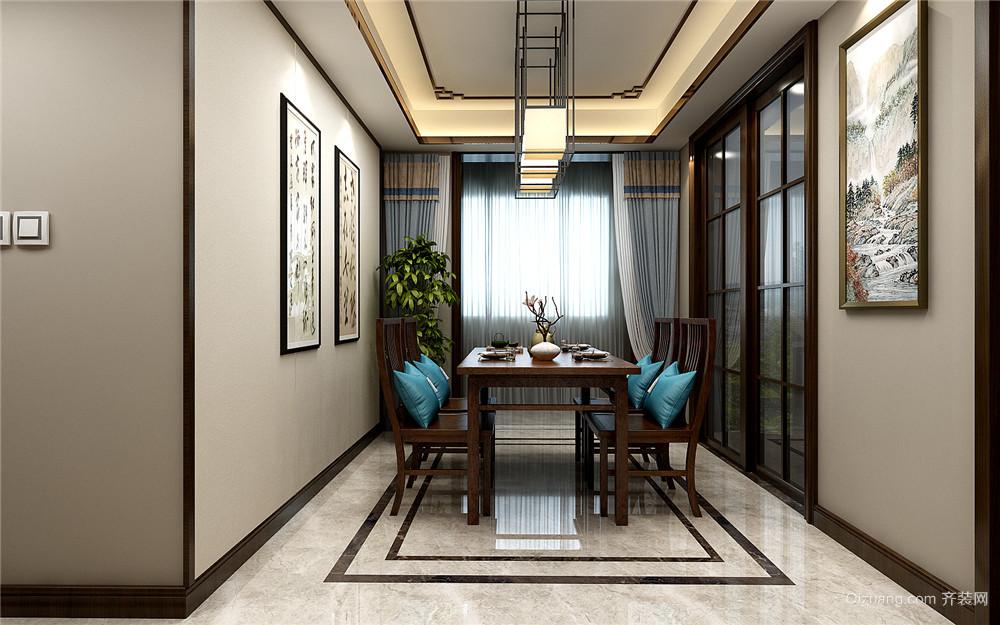 云东府中式风格三居室140平米