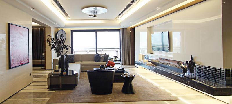103平米朴素两居室精致客厅装修效果图