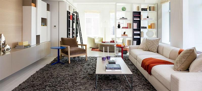 现代简欧风格大  户型客厅装修效果图实例