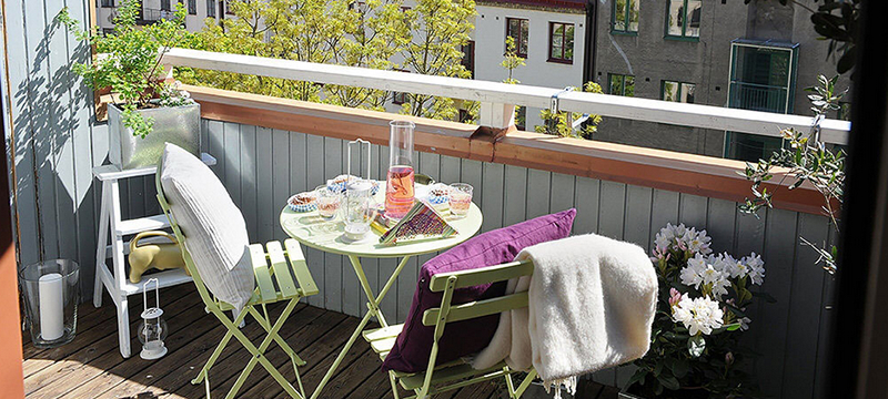 明亮舒心的别墅型宜家阳台装修效果图