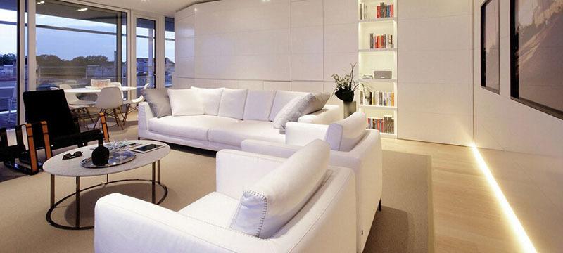 120平米大户型北欧风格客厅装修效果图欣赏