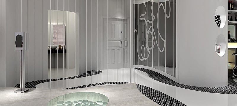 现代简约,别墅玄关设计效果图