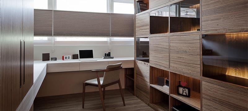 中式风格,原木色书房设计