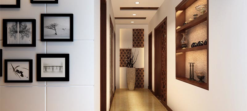 中式风格,玄关过道房设计效果