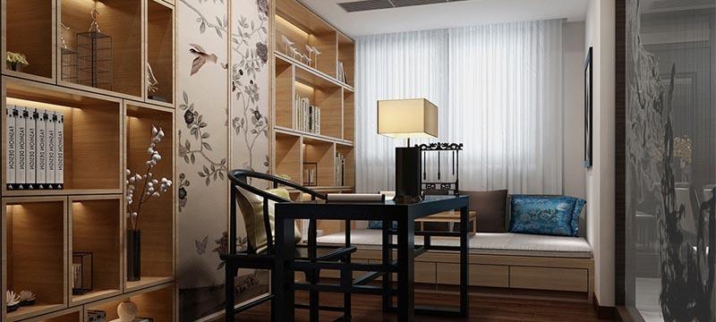 中式风格,书房设计效果