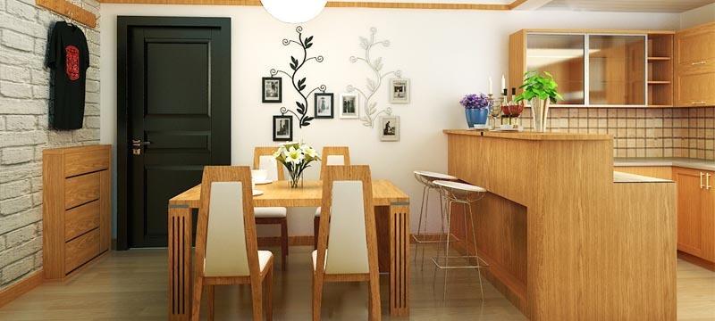 美式风格,餐厅装修效果图