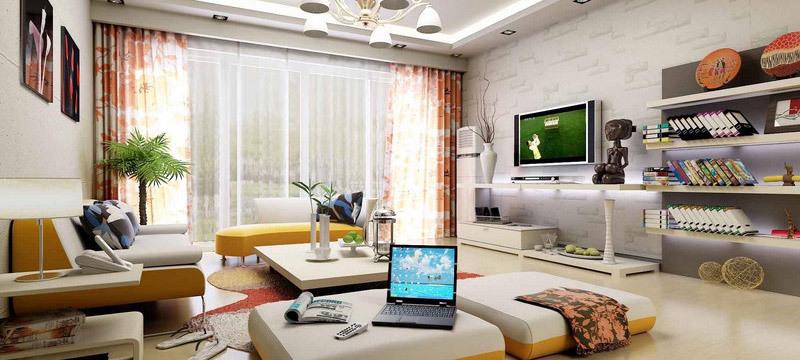 2016都市现代小型公寓客厅装修效果图