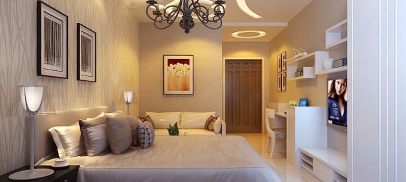 前卫时尚:小型公寓卧室个性吊顶效果图