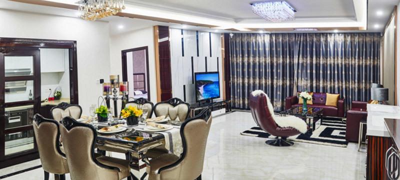 欧式风格现代大户型客厅装修效果图案例