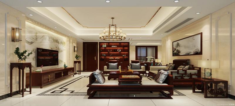华府豪庭-中式风格-美家装饰