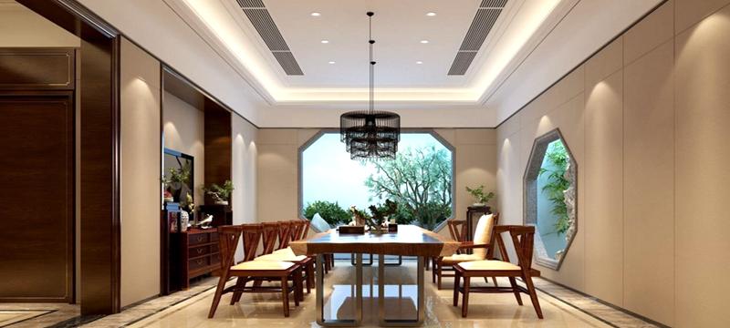 国泰别墅-中式风格-伟博装饰