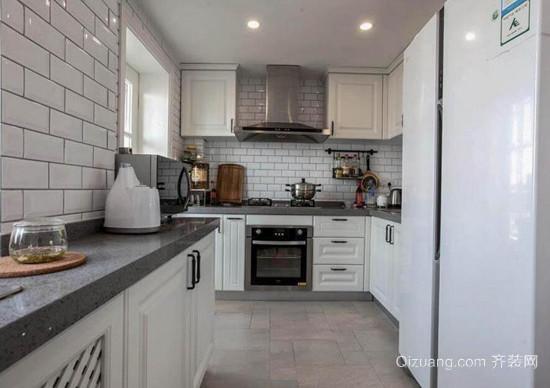 厨房摆放冰箱装修效果图