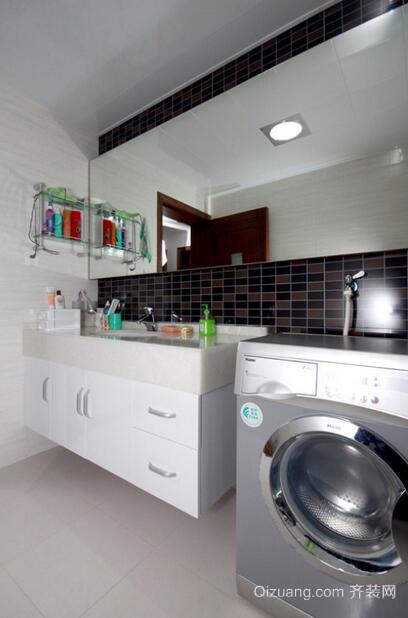 卫生间摆放洗衣机装修效果图