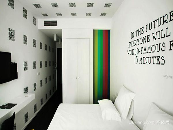 二维码手绘背景墙效果图