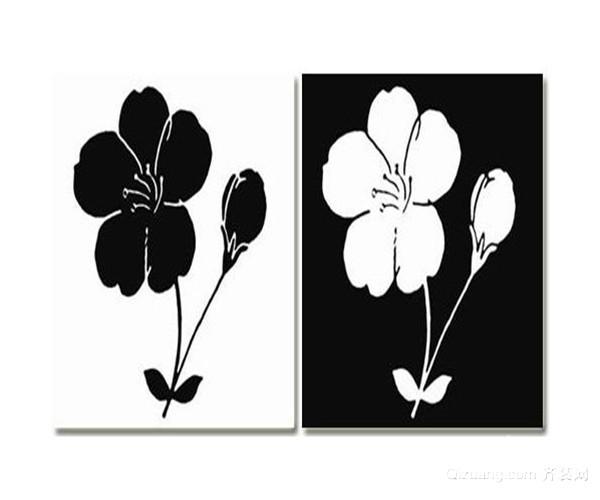 黑白装饰画的搭配