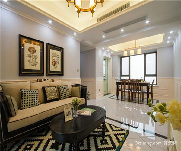 美式风格装修效果图经典案例线条家具装饰
