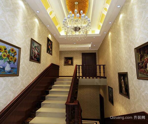 欧式别墅楼梯装修效果图赏析