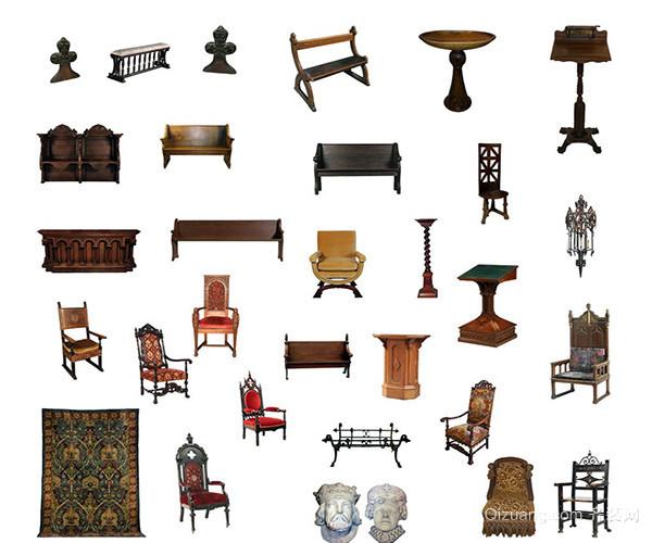 欧式古典家具客厅套装