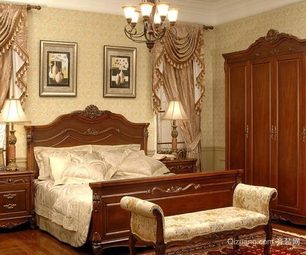 欧式古典家具华贵优雅双人床