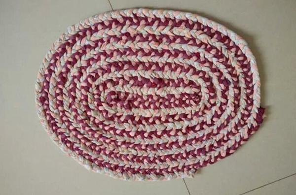 手工编织地垫