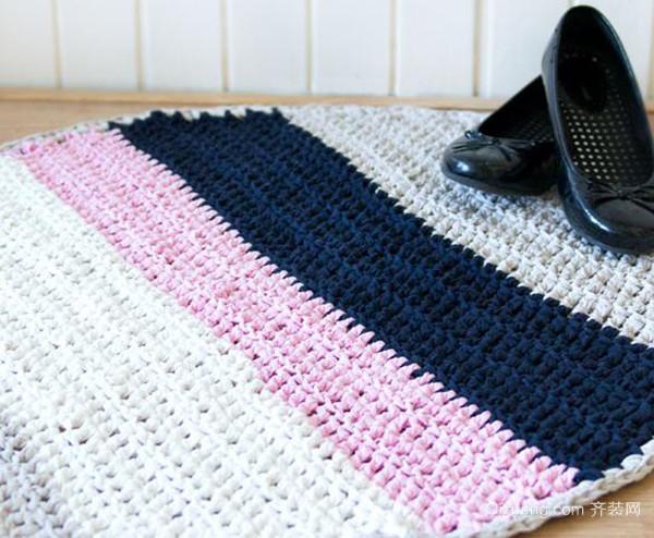 手工编织地垫方法