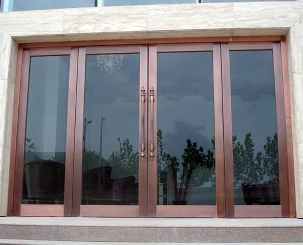玻璃地弹簧门