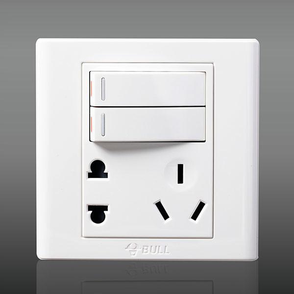 带开关插座怎么安装