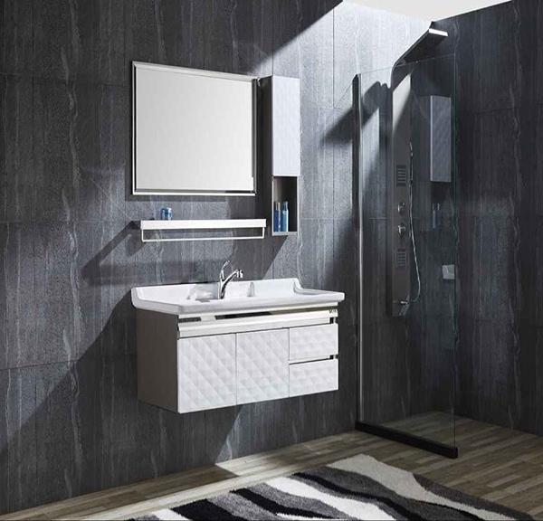 不锈钢浴室柜安装