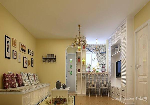 客厅墙面漆颜色之淡黄色