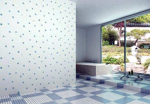原来浴室也能用壁纸 关键材料要选对