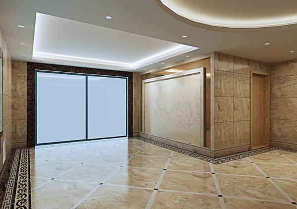 大理石瓷砖铺装完工图
