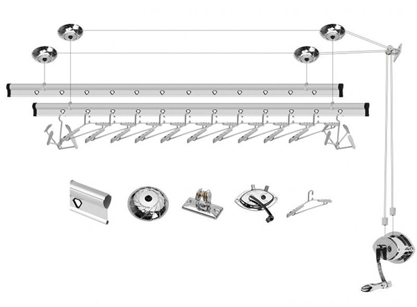 阳台升降晾衣架结构