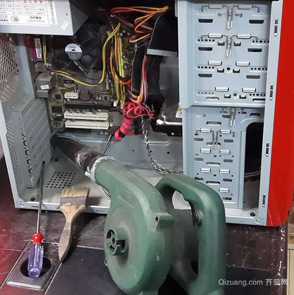 电脑除尘方法