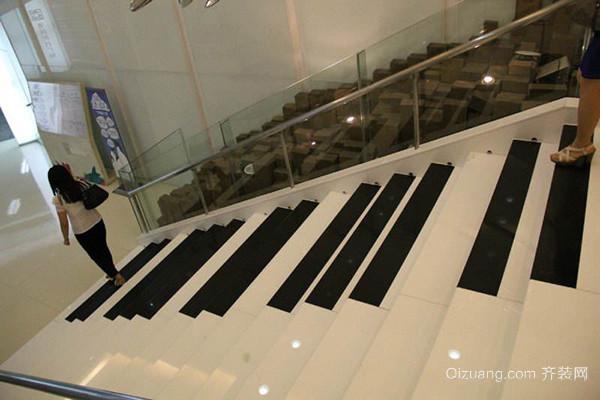 钢架琴键楼梯制作样式