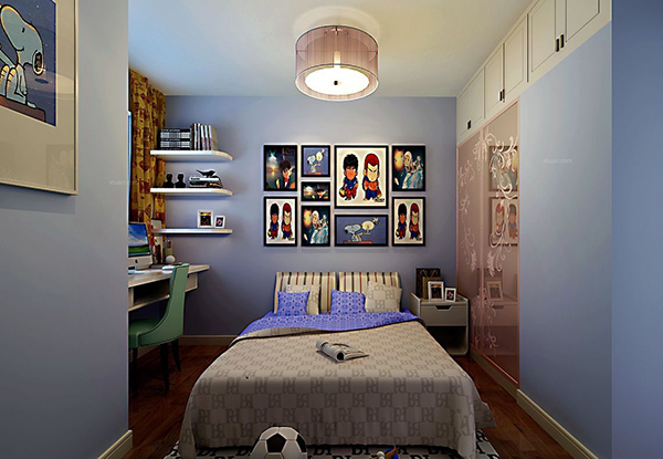 卧室照片墙
